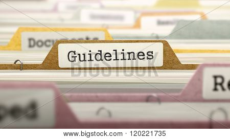 Guidelines Concept. Folders in Catalog.