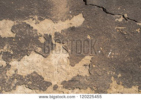concrete wall with old plaster chipped texture background