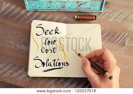 Handwritten Text Seek Low Cost Solutions