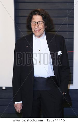 BEVERLY HILLS - FEB 28: Fran Lebowitz at the 2016 Vanity Fair Oscar Party on February 28, 2016 in Beverly Hills, California