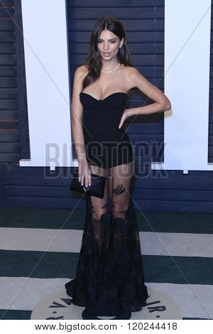 BEVERLY HILLS - FEB 28: Emily Ratajkowski at the 2016 Vanity Fair Oscar Party on February 28, 2016 in Beverly Hills, California