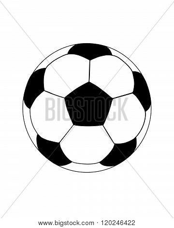 A vector illustration of a soccer ball