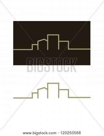 Vector illustration of a generic building and cityscape