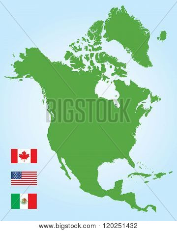 American Map Vector.Vector North American Vector Photo Free Trial Bigstock