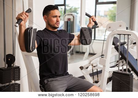 Athletic Man Building Some Muscle