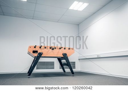 Foosball Table In A Large Room
