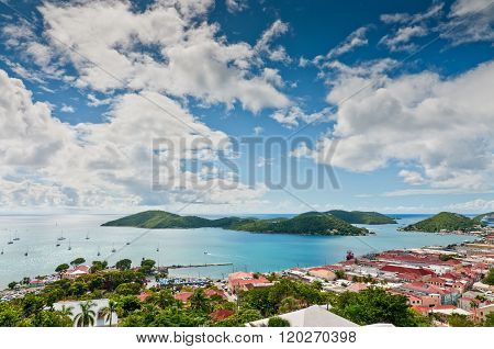 Aerial View Of Charlotte Amalie