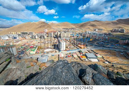 Ulan-Bator, Mongolia - May 2015: View of Ulan Bator