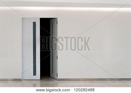 Door Open Into Dark Room, With Copy Space