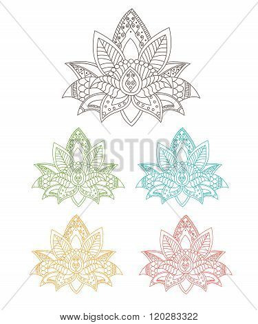 Beautiful Lotus: Ornament Vector Yoga. Hand Drawn Element. Picture For Design, Kaleidoscope, Medallion, Yoga, India, Arabic. Flower Lotus, Pats, Tattoo, Tarot. Lotus Flower For Sale. Lotus Hawaii.