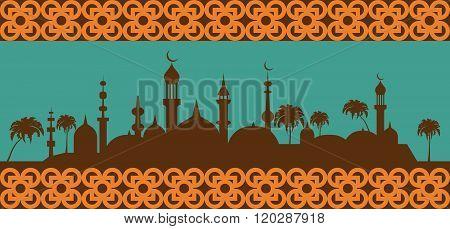 Islam infographic. Muslim culture