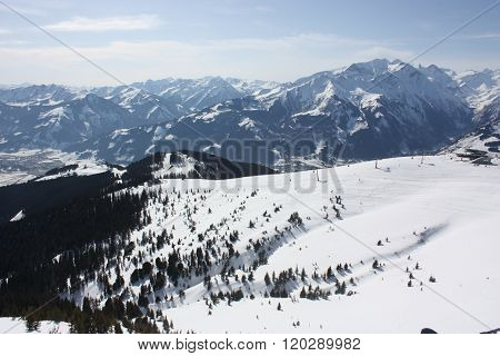 Zell Am See, Skiing Resort In Alps.