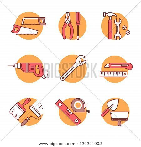 Home tools and hardware set