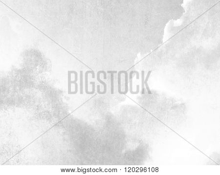 Gray sky texture background retro in soft pale watercolor