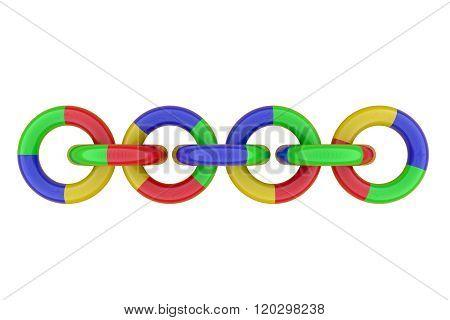 Tree-dimensional Chain Of Plastic Rings