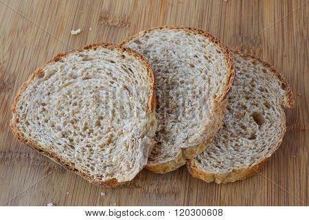 Three Slices Of Dark Bread