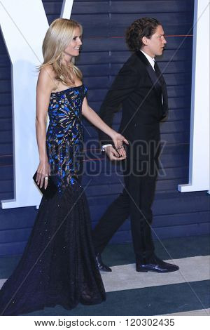 BEVERLY HILLS - FEB 28: Heidi Klum, Vito Schnabel at the 2016 Vanity Fair Oscar Party on February 28, 2016 in Beverly Hills, California