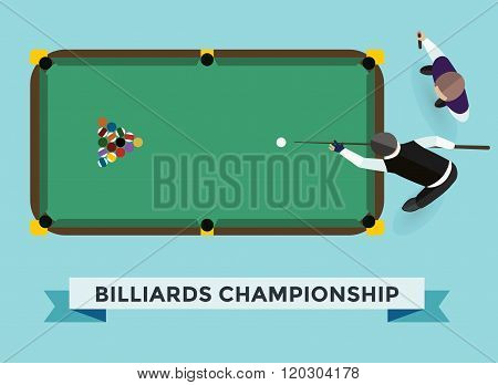 Vector billiard game champion.