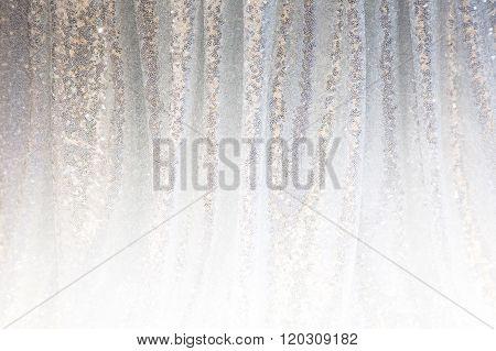 Gray Background Of Draped Fabric