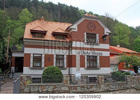 Karlstejn, Czech Republic - April 30, 2013: Buildings On Main Street Leading To The Karlstein Castle