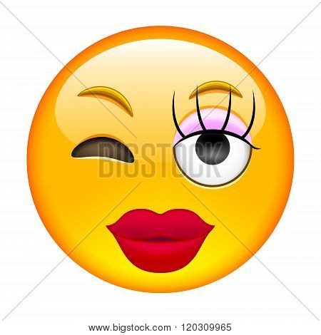 Lady Eyewink Emoticon