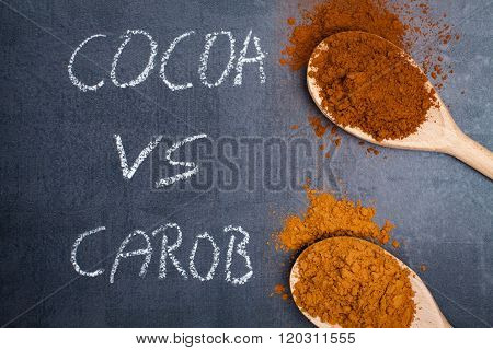 Carob and cocoa powder