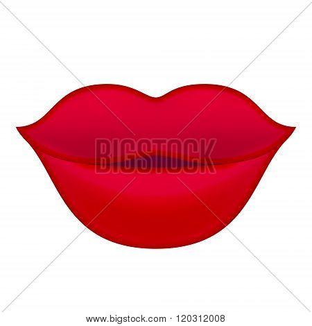 Red Lips Illustration.
