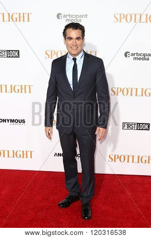 NEW YORK-OCT 27: Actor Brian d'Arcy James attends the 'Spotlight' New York premiere at Ziegfeld Theatre on October 27, 2015 in New York City.