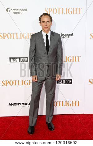 NEW YORK-OCT 27: Actor Neal Huff attends the 'Spotlight' New York premiere at Ziegfeld Theatre on October 27, 2015 in New York City.