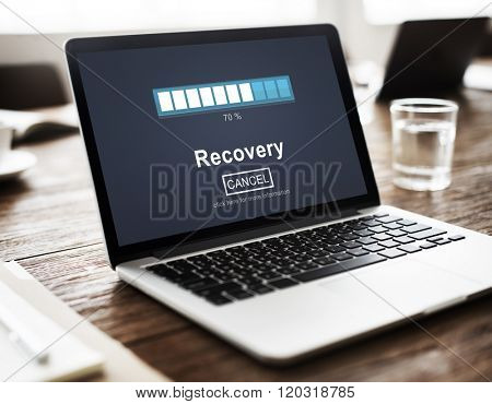 Recovery Backup Restoration Data Storage Security Concept poster