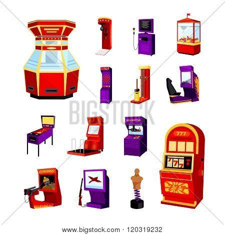 Game Machine Icons Set