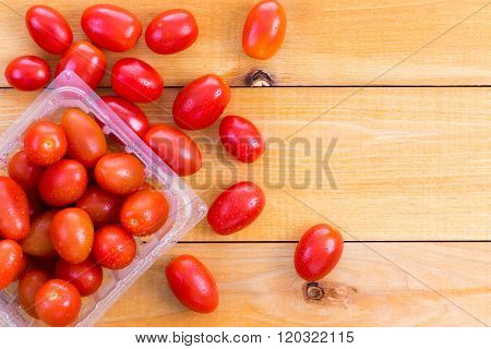 Punnet Of Fresh Healthy Baby Tomatoes