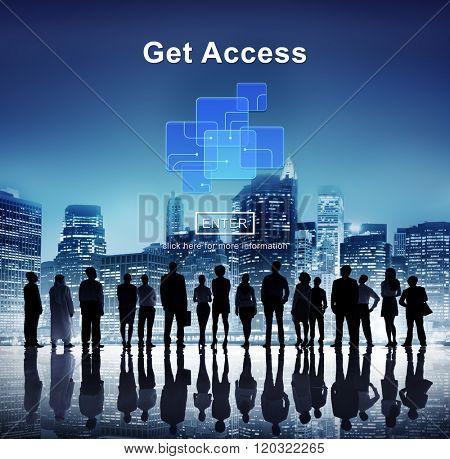 Get Access Availability Obtainable Online Internet Technology Concept