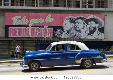 Cuban revolution billboard