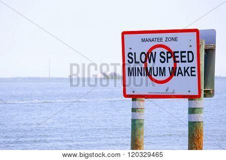 Manatee Zone Marker