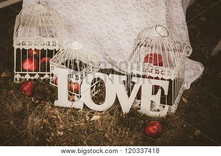 Love - Wooden Inscription For Wedding