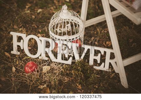 Forever - Wooden Inscription For Wedding