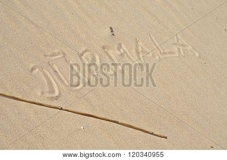 Text on the sand - Jurmala