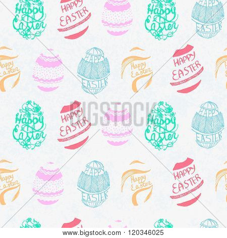 Vector Seamless Pattern For Easter.