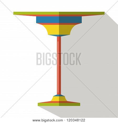 Modern table vector flat icon isolated cartoon