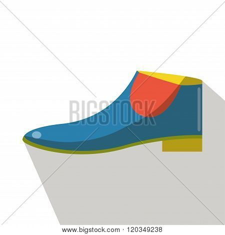 Boots icons vector flat isolated side view.