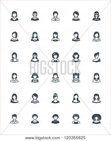 Women Avatars Icons