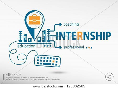 Internship Concept for business.