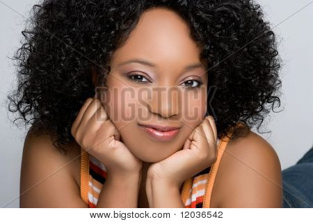 Beautiful African American Girl