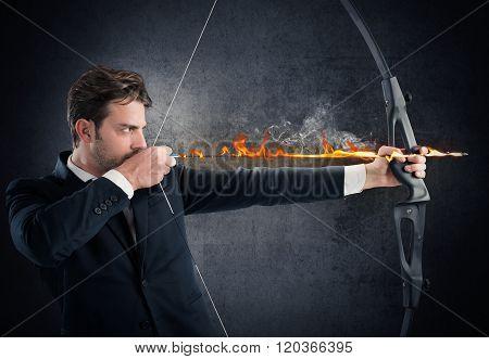 Vigorously hitting the target