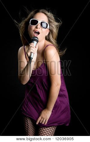 Singing Blond Woman