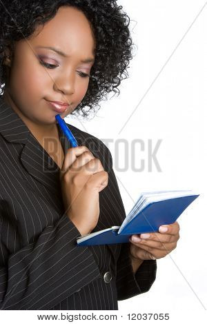 Woman With Checkbook