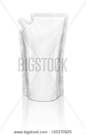 Blank Packaging Refill Pouch Isolated On White Background