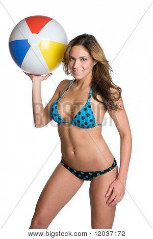 Beach Ball Bikini Girl