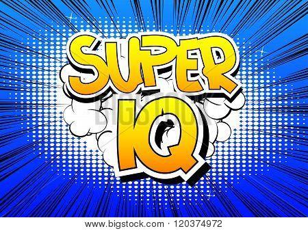 Super Iq - Comic Book Style Word.